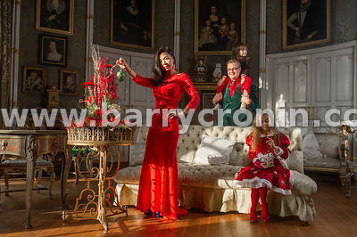 28th November, 2014.Birr Castle's Lady Anna and her husband Patrick Parsons photographed in the castle with  children William...