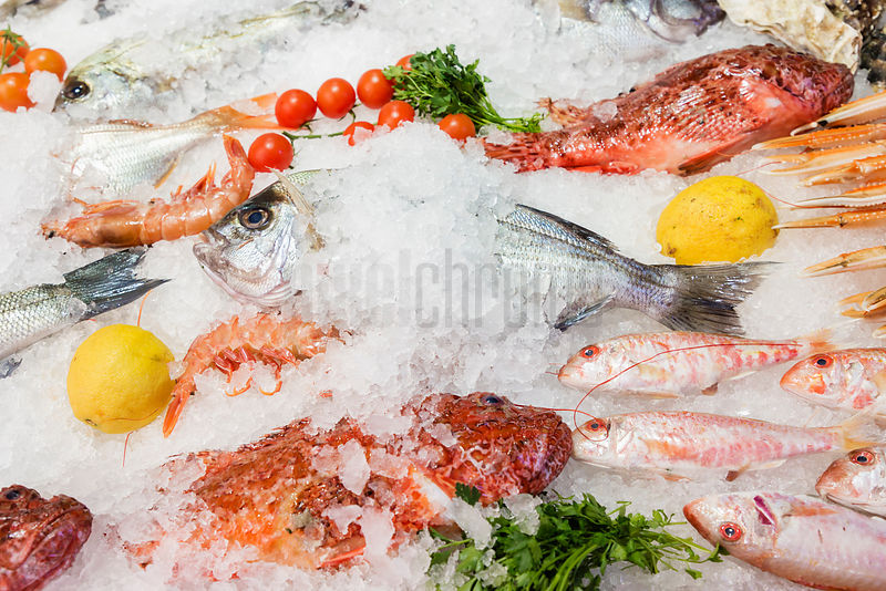 Selection of Fresh Caught Fish at a Restaurant