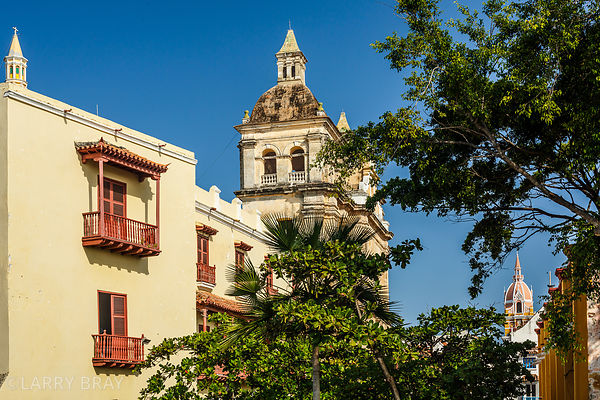 Historic buildings in Cartagena, Colombia, South America