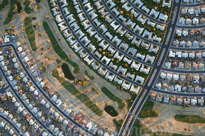 Aerial photograph of Sun City in Arizona