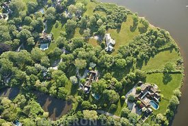 Aerial photograph of The Hamptons of New York