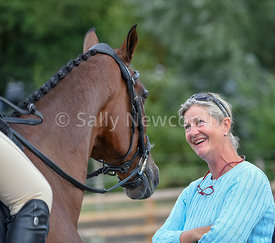 Team GB dressage trainer Tracie Robinson with Ceylor LAN