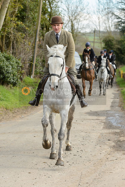leaving the meet at Cransley Cottage
