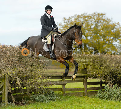 Tim Edwards jumping a fence near Gartree Covert