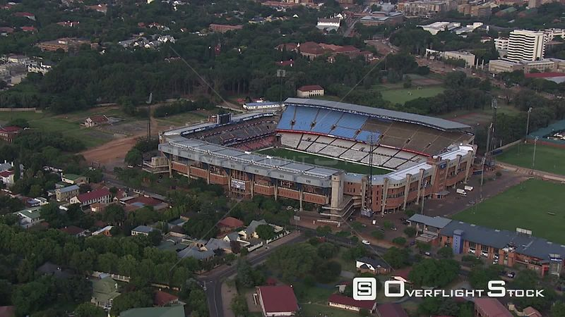 Aerial shot of Loftus Versfeld Stadium in Pretoria. Pretoria Gauteng South Africa