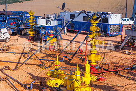 Multiple Well Frac Stack Image