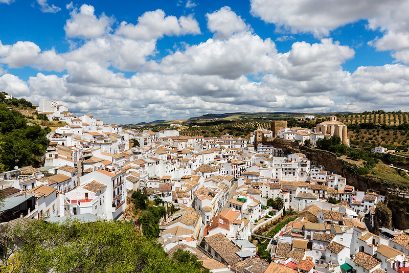 Elevated View of the White Town of Setenil de las Bodegas