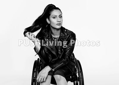 Young using a wheelchair studio portraits