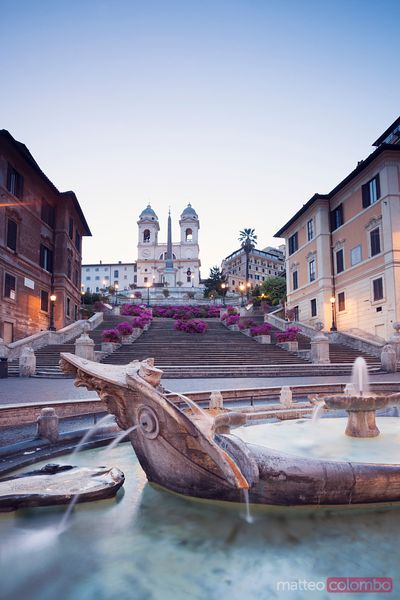 Spanish steps and Trinità dei Monti church