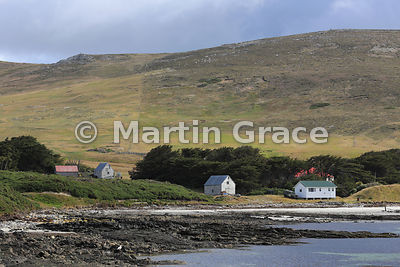 Part of Carcass Settlement, Carcass Island, Falkland Islands
