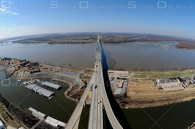 Hernando Desoto Bridge Crossing the Mississippi River in Memphis, TN