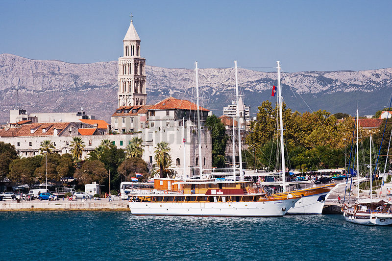 View from Ferry Entering Split Harbour, Croatia