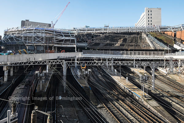 Birmingham New Street Station under redevelopment