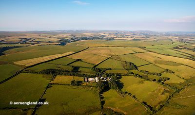 Exmoor National Park from the air