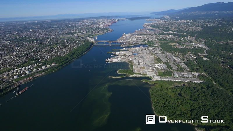 Burrarn Inlet Cutting Through Burnaby and North Vancouver