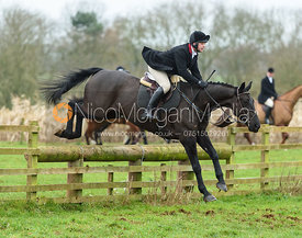 Joss Williams jumping a fence at Goadby Marwood 11/1