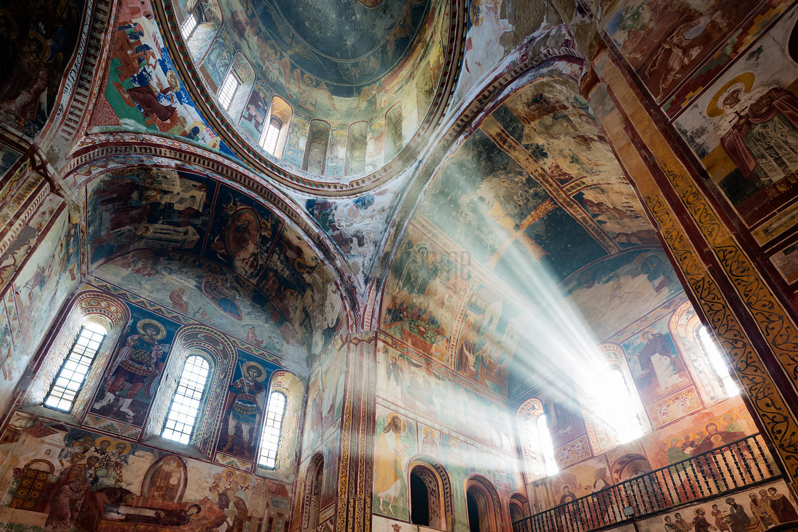 Gelati Monastery Interior Showing Medieval Frescoes