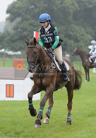 Alex Postolowsky and ISLANMORE GINGER - cross country phase,  Land Rover Burghley Horse Trials, 6th September 2014.