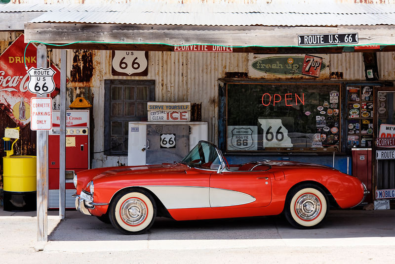 Corvette at the Hackberry Store