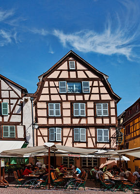 Street restaurant in Colmar