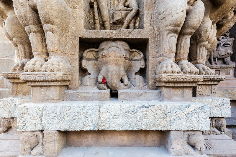 Detail in the Kailasanatha Temple