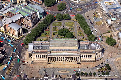 aerial photograph of St George's Hall  Liverpool