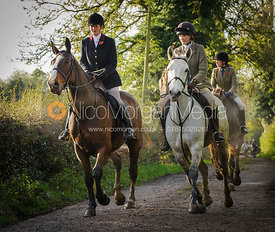 Bee Bell MFH and Isobel McEueun - The Cottesmore Hunt at Tilton on the Hill, 9-11-13