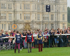 Fence Stewards at the last - cross country phase,  Land Rover Burghley Horse Trials, 6th September 2014.