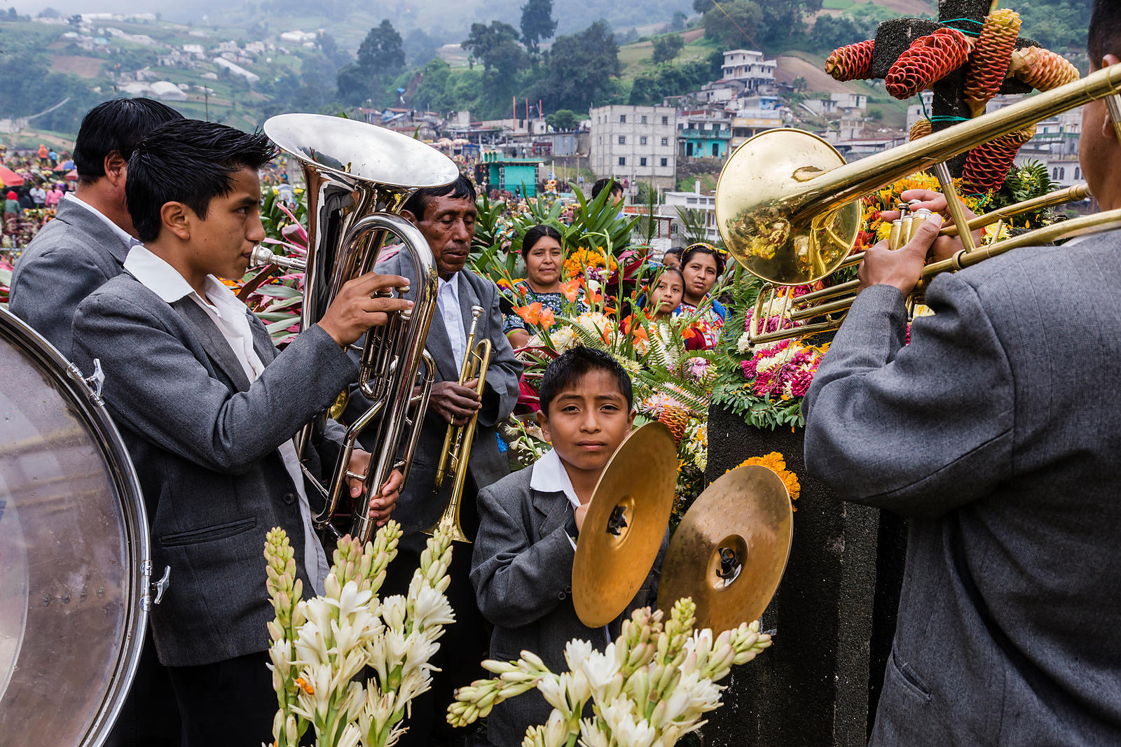 Musicians Playing at a Family Grave Site