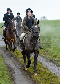 at Knossington Spinney - The Fitzwilliam Hunt visit the Cottesmore at Burrough House