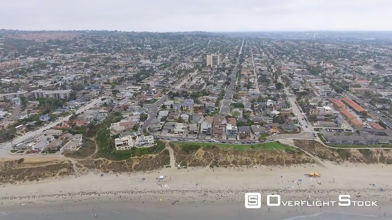 La Jolla Beach and Skyline, Aerial view of San Diego California