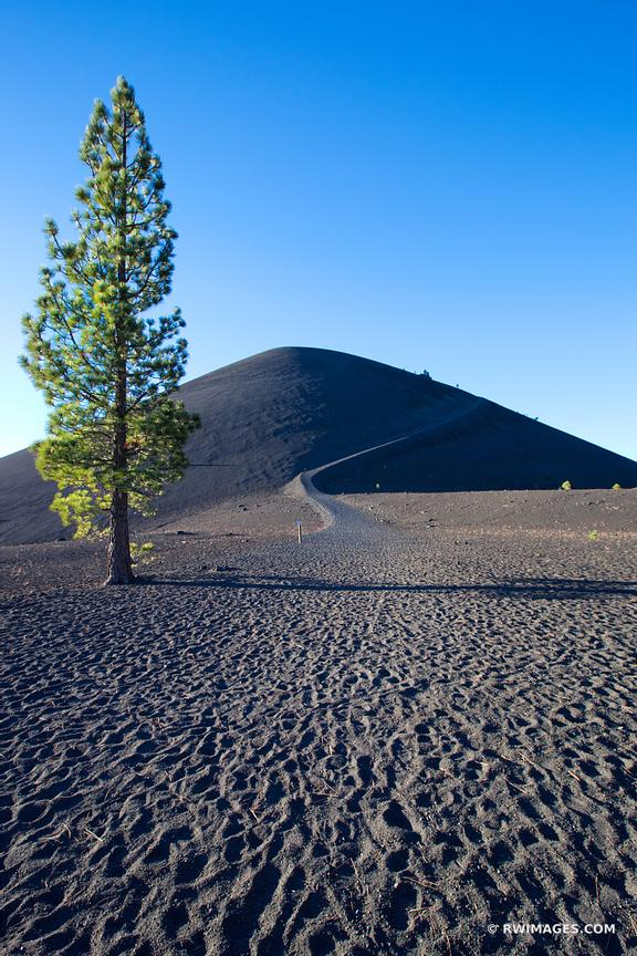 LONE TREE VOLCANIC ASH CINDER CONE VOLCANO LASSEN VOLCANIC NATIONAL PARK CALIFORNIA