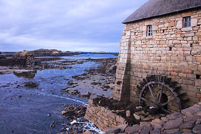 Sea mill in Bréhat island- Brittany