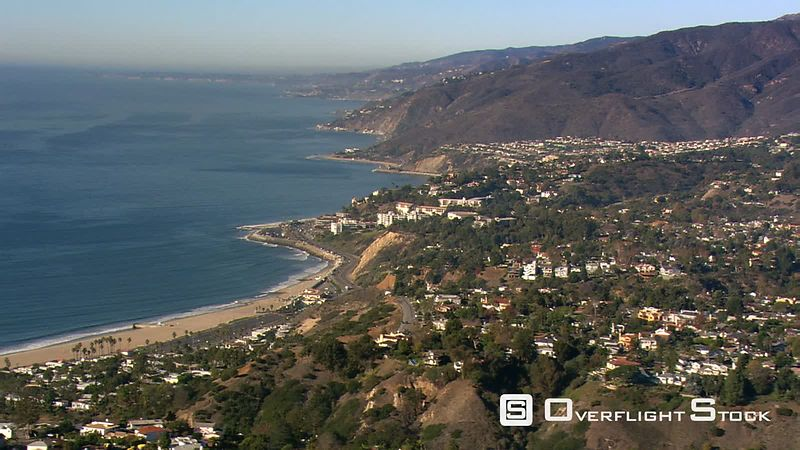 Aerial view of California's Malibu coastline.