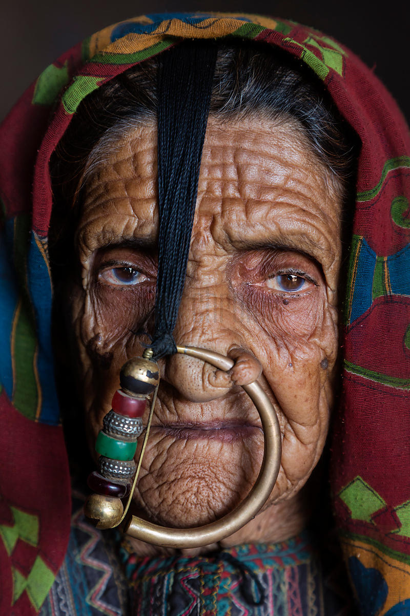 Portrait of a Woman from the Jat Tribe