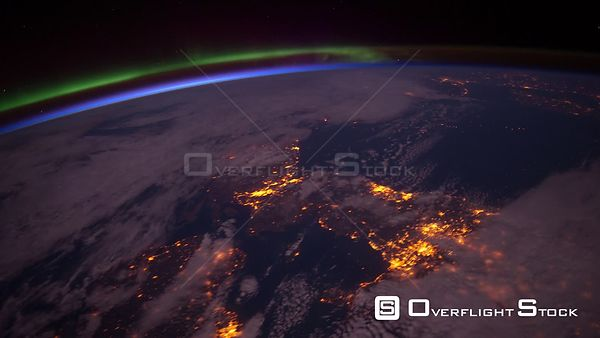 TimeLapse from  ISS Europe Aurora Borealis 05_Apr_2012