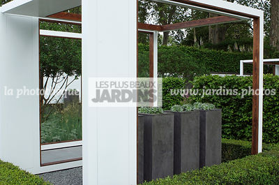 Container, Contemporary garden, Digital, Pergola, Pot