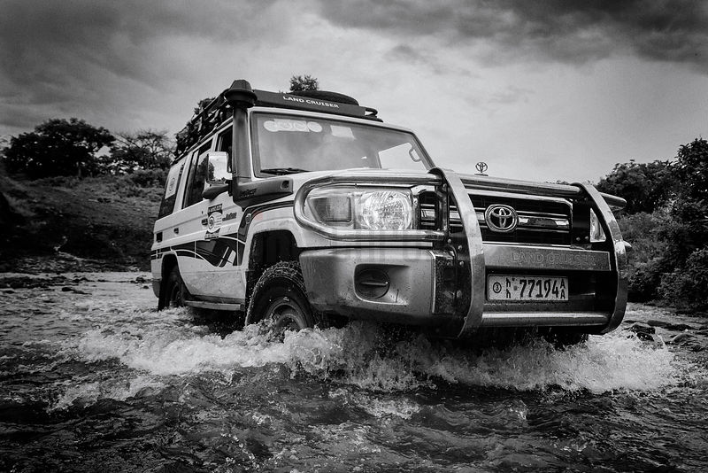 Land Cruiser Fording a River