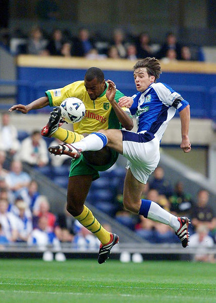 Matt Jensen in the Northwich Box in Blackburn Rovers v Norwich City Match