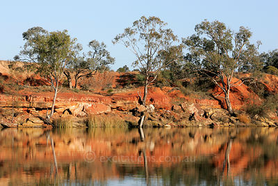 Red clay river bank, Australia.