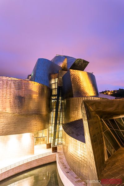 Details of the Guggenheim museum of Bilbao, Spain