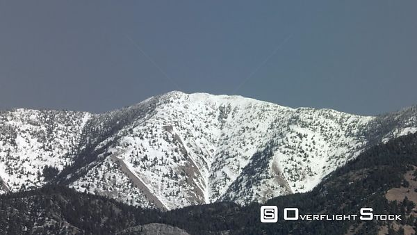 The snow-covered Bridger mountain range towers over Bozeman and the Gallatin Valley in Montana
