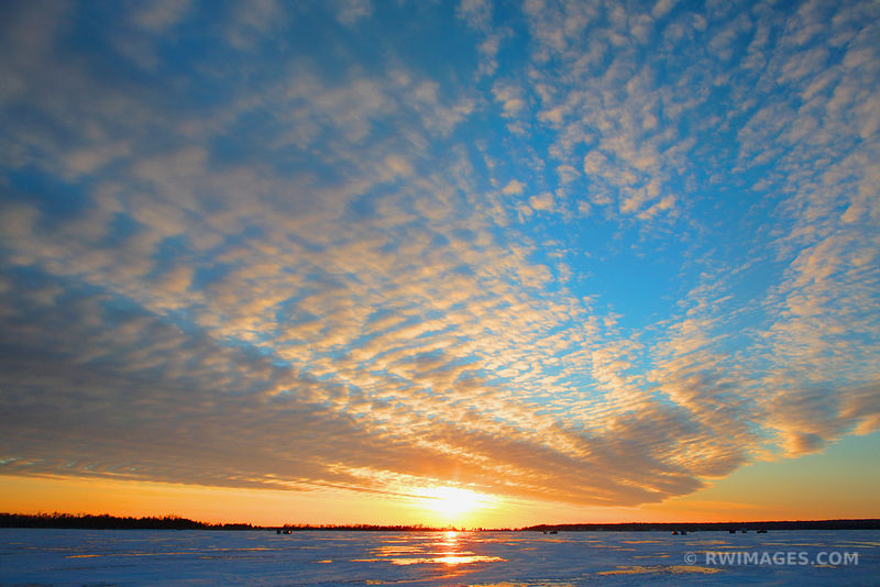 WINTER SUNSET WASHINGTON ISLAND DOOR COUNTY WISCONSIN