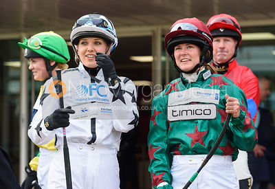 Catherine Mills and Madeleine Bunbury in the Parade Ring - Champions Willberry Charity Flat Race - Cheltenham Racecourse, Apr...