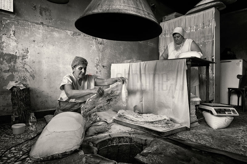 Baking Lavash in a Traditional Armenian Bakery