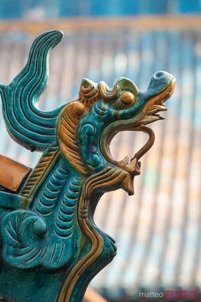 Chinese dragon, decoration on building in Pingyao, China