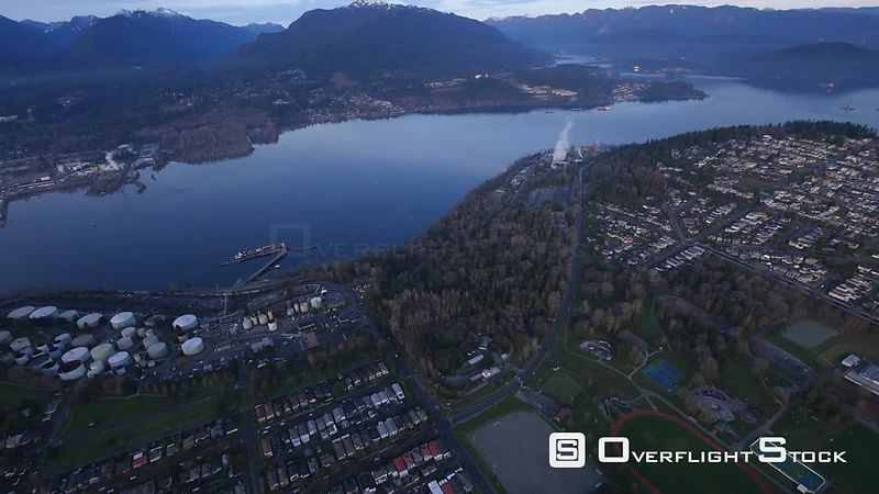 Burnaby and Burrard Inlet BC Canada