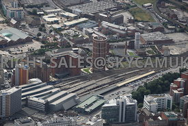 Leeds aerial photograph of Candle House and the Double Tree Hilton Hotel Wharf Approach Canal Wharf