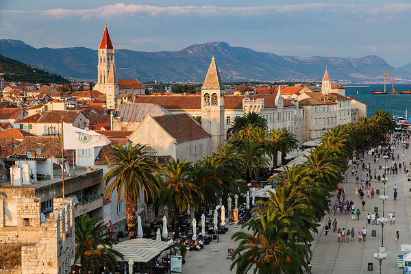 Elevated View of the Town of Trogir