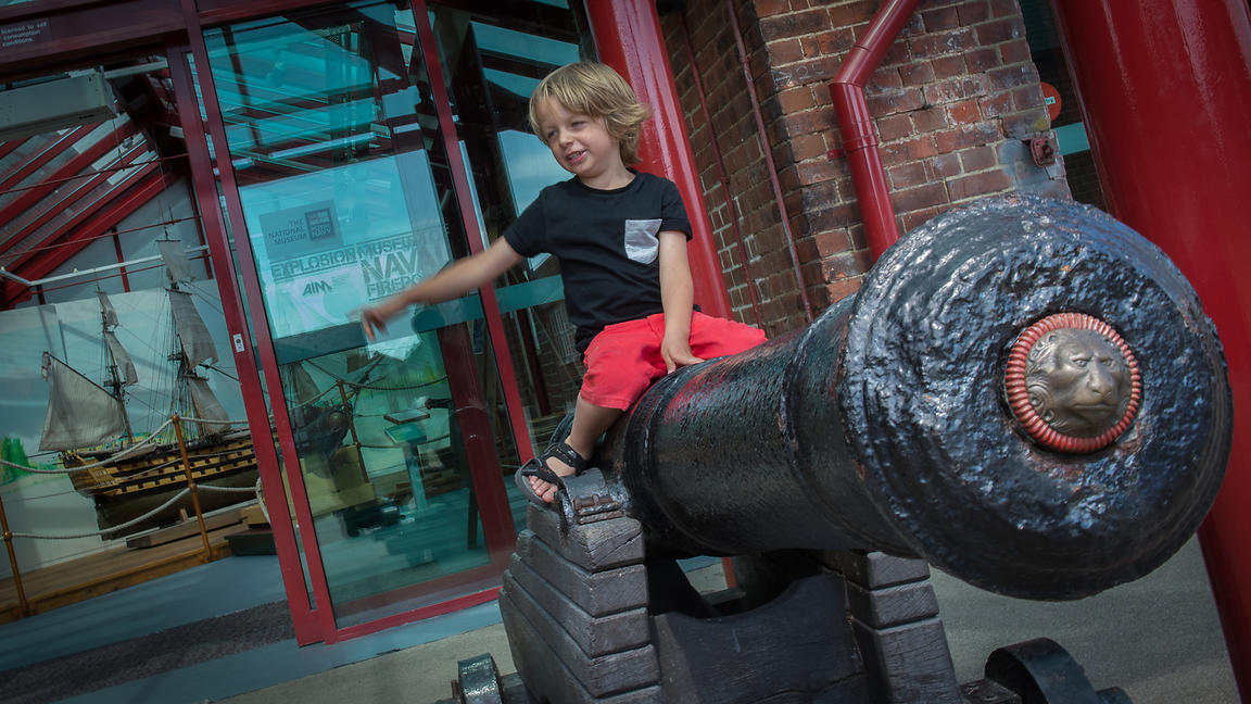 Explosion! Museum of Firepower in Gosport, Hampshire